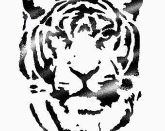 Tiger stencil, Ideal Stencils, Art and home décor, painting stencils