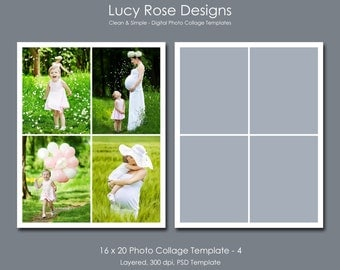 16 x 20 Photo Collage Template - 4