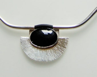 Sterling Silver.Onyx. Silver 925 Pendant with Onyx.