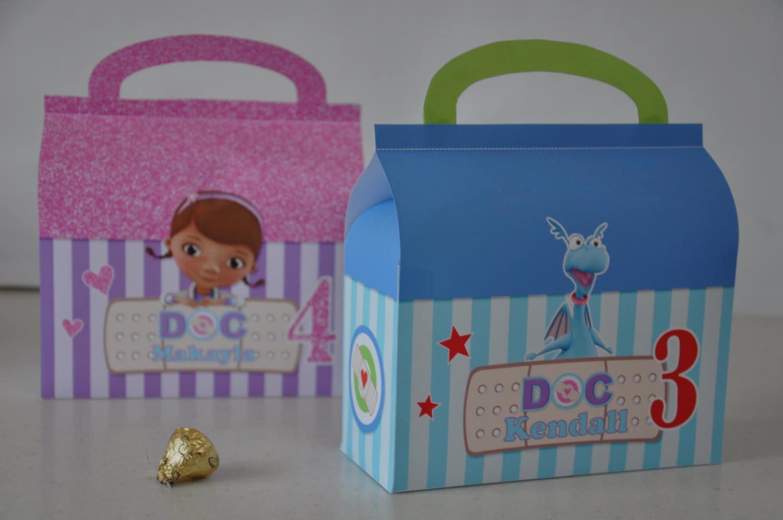 Doc McStuffins Doctor bag & Stuffy Checkup bag favor box combo Doc Mcstuffins Bag