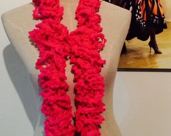 Fuchsia or hot pink Flamenco Scarf