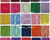 5 to 6 Inch Crochet Tutu Tops Headbands Waistbands You Choose 32 Colors