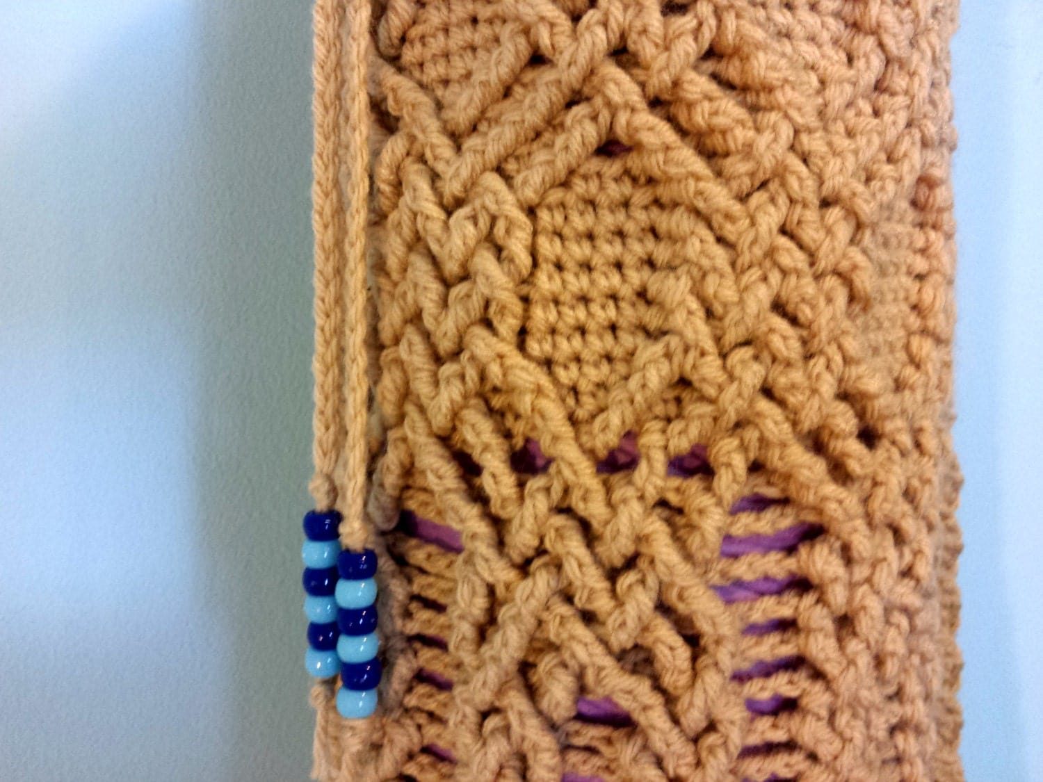 INSTRUCTIONS ONLY - Crochet your own Cables Sampler Yoga Mat Bag ...