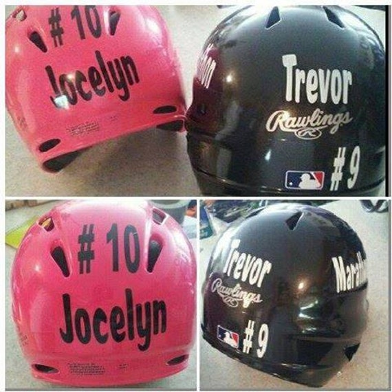 Football Baseball Helmet Decal DIY Home Mom Team Number - Pink motorcycle helmet decalscustom vinyl decals part