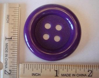 44mm Purple Clown X-Large Plastic Buttons (A-28)