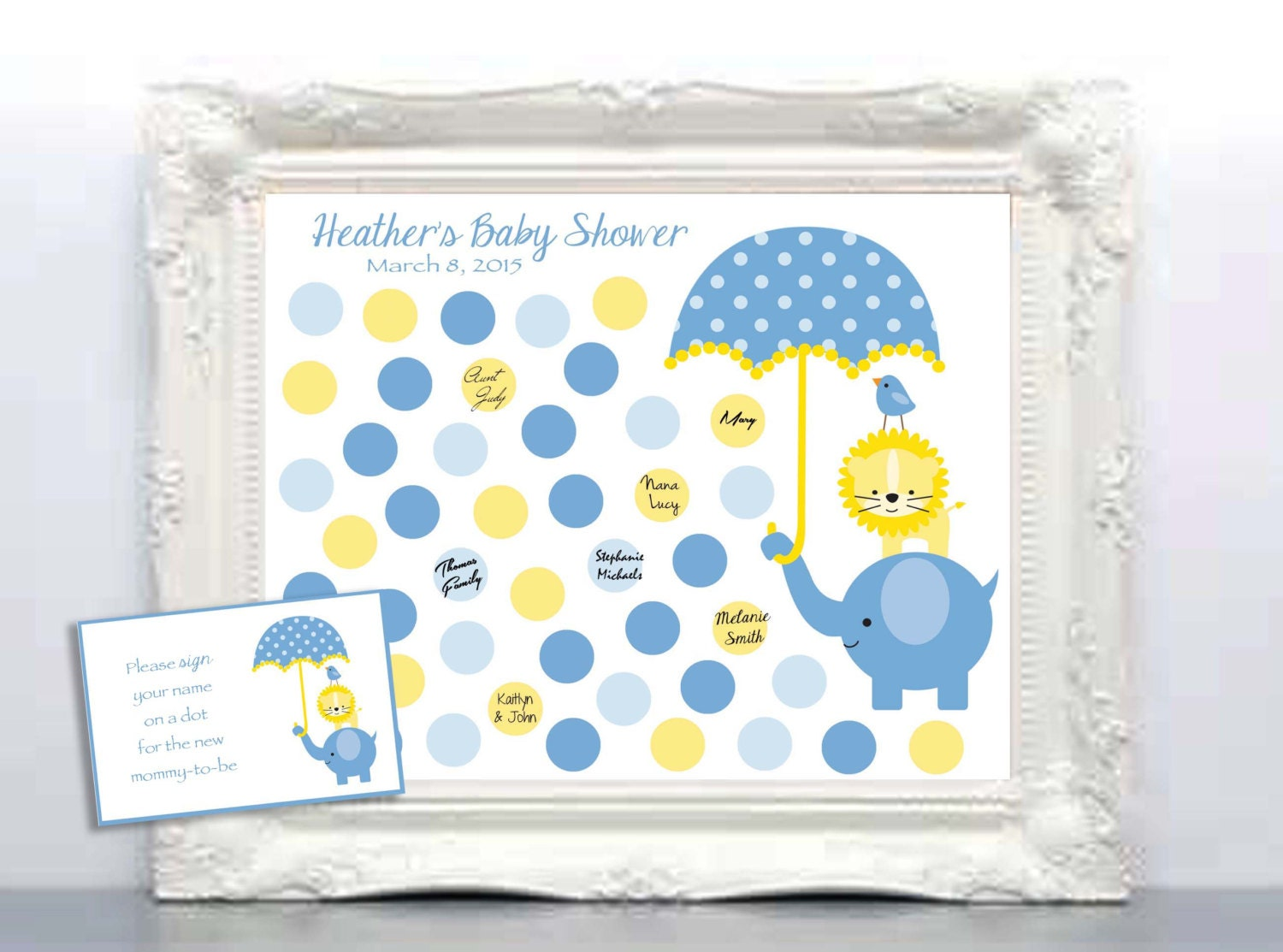 baby shower guest 16x20 sign in poster by kreationsbymarilyn