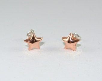 Star Earrings Copper