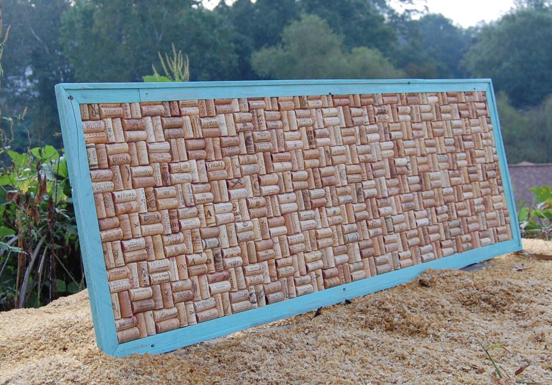 turquoise wine cork board corkboard large framed cork board. Black Bedroom Furniture Sets. Home Design Ideas