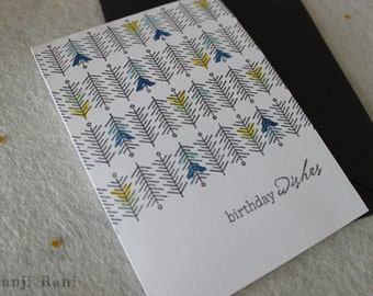 Birthday Card - Geometric Print