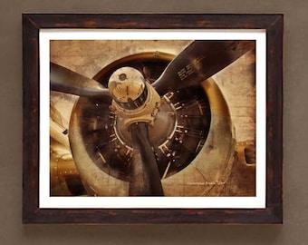 "Fine Art Print: -  Vintage WWII Airplane Prop"" - 11"" x 14"" Giclee print - Historic Aircraft print, Aviation art"