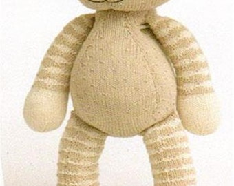 baby knitting pattern for bunny rabbit toy  14 inches 4 ply