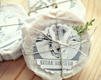 Artisan Shampoo Bar for Oily Hair // Rosemary with Activated Charcoal