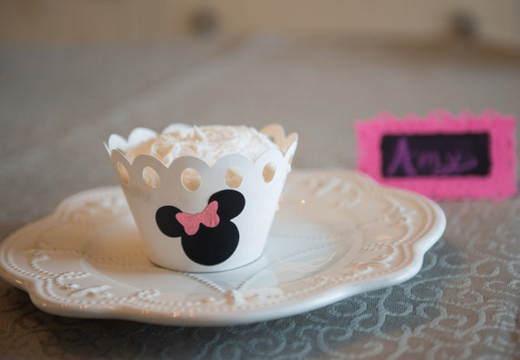 30 2 Inch Black Shaped Stickers With Shimmery Pink Bows