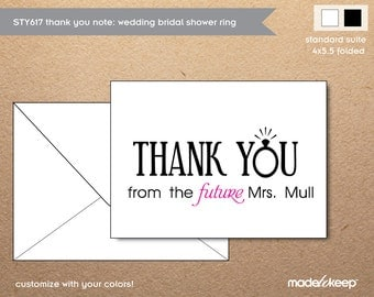 STY617 Thank You Note Wedding Ring Future Mrs.