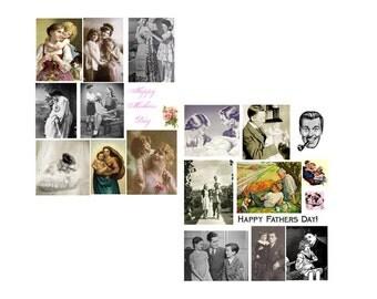 SALE.......Mother & Father Digital Collage Set.......SALE