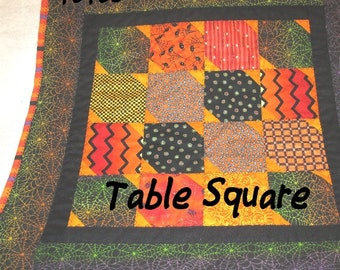 HALLOWEEN MINI, QUILT,  Table Square,  Wall Hanging,  Holiday Decor, Home Décor,  Hostess Gift, Table Decor,  Gift for Women