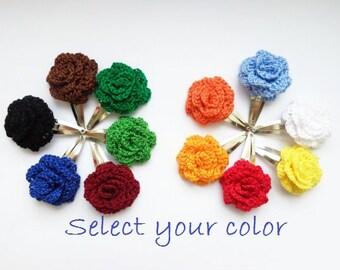 Set of 2 pce. Baby girl hair clips, crochet hair accessories,  Crocher flower hairclips, flower hairclips, crochet hair flower