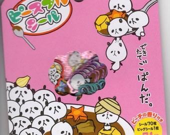 Japan Mind Wave kawaii PANDA 71pcs stickers flake