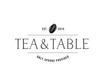 Pre-made Logo Template Design / Customized Design / Tea & Table