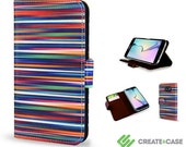 Samsung Galaxy S6  S6 Edge wallet case  Limited edition vegan leather flip case Blurry Lines