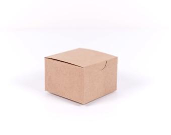 10 Kraft Gift Boxes 3x3x2