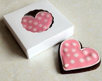 25 units Small White Cookie Box for 1-2 Cookies