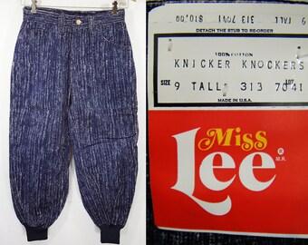 "Vintage 70's MISS LEE Deadstock Blue Knickers Pants Size 9 Tall (25"" Waist)"