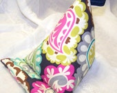 Mobile Phone Stand, iPad, Kindle, Navy Blue Fabric Pillow Wedge, iphone, Samsung, Smart Phone Dock