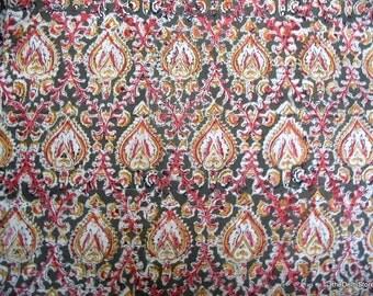 Indian Handloom Cotton Kalamkari Print Fabric for Jackets by Yard