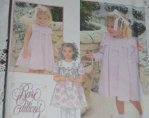 "Simplicity 9465 Todlers ""Rare Editions"" Dress and Coat Sewing Pattern - UNCUT - Sizes 2 3 4"