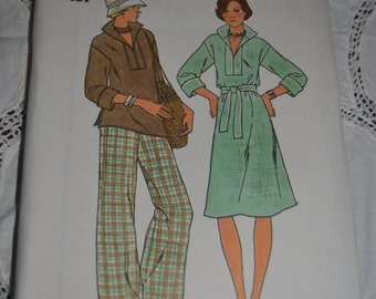 Butterick 4125  Misses Dress Tunic Pants and Belt Sewing Pattern - UNCUT - Size 10