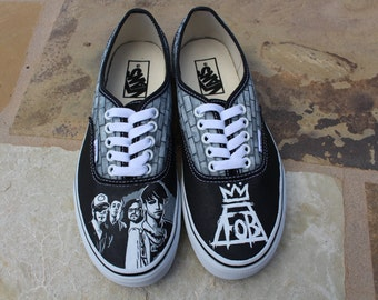Hand Painted Shoes - Fall Out Boy