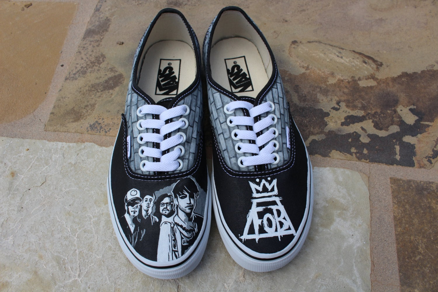 Hand Painted Shoes Fall Out Boy