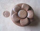 Small Lidded Box, Flower on Top