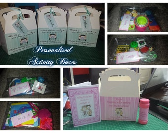 Full personalised activity boxes