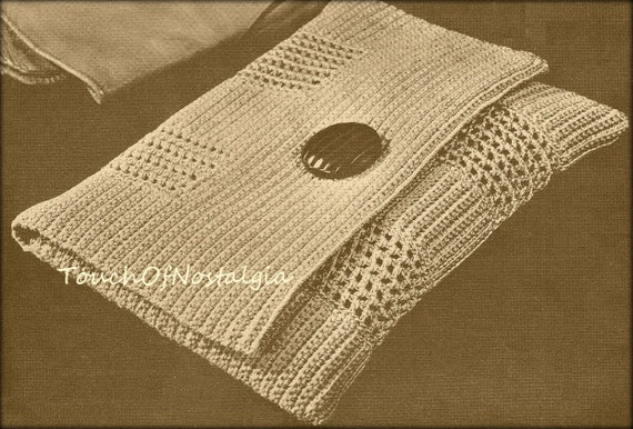 Crochet Clutch Pattern : ENVELOPE CLUTCH Crochet Pattern - CHIC Style Envelope Evening Clutch ...