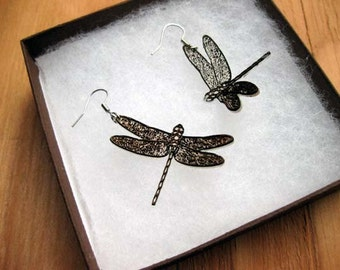 Dragonfly Earrings - laser cut and engraved