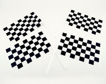 Plastic Checkered Mini Racing Flags Nascar Car Driving Theme Party Favor Street Race Birthday Decorations Lot HP038