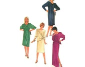 Evening Dress Simplicity 6593 Size 8 Bust 31.5 Knit Pullover Front Draped Dress Womens Vintage 80s Sewing Pattern UNCUT/FF