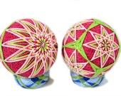 Japanese Temari. Set of 2 balls