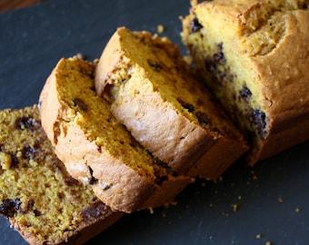 Chocolate Chip Pumpkin Bread, homemade baked goods