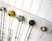 Jewelry Display / Yellow and Gray Jewelry Hanging Organizer