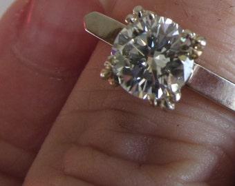 Below Appraisal GIA CGA  Appraisal Wedding Ring 1.08 Carat Diamond Ring Engagement Ring 14K Yellow Gold 14K White Gold Diamond Wedding Rings