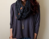 SALE Middleburg Buttoned Cowl-storm