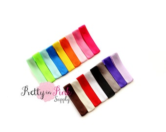 Ribbon Lined Hair Clips Choose quantity.... Hair Clips...Lined Hair Clip...Ribbon Alligator Clip...DIY Hair Clip...Wholesale...Baby Girl