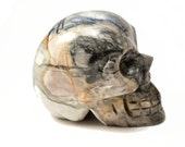 Picasso Jasper Crystal Skull Giant Sized Hand Carved 4 inches long! Increase Creativity, Nurturing Energies!