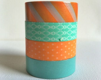 Sherbert Washi Tape Set of 4 - 15MM