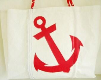 XXLG Sail Again Bags  Anchor Beach Bag from Recycled Sail
