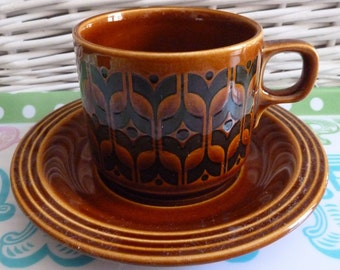Retro Hornsea Heirloom Cup And Saucer 1970's Vintage