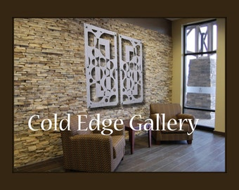 Office Metal Wall Art Abstract Corporate Sculpture Outdoors Corporate Brushed Aluminum Contemporary Cold Edge Gallery by Michele